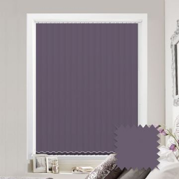 Purple vertical blinds - Made to Measure vertical blind in Splash Amparo